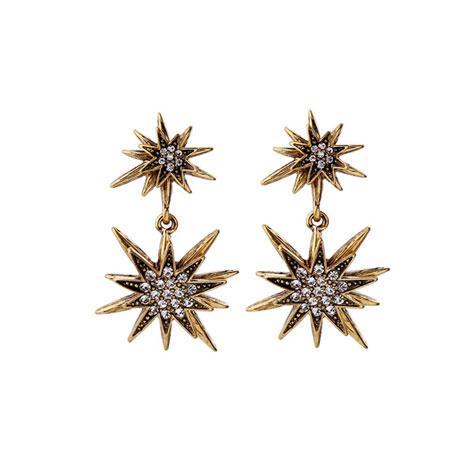 orecchini stella oro pendenti mias vintage