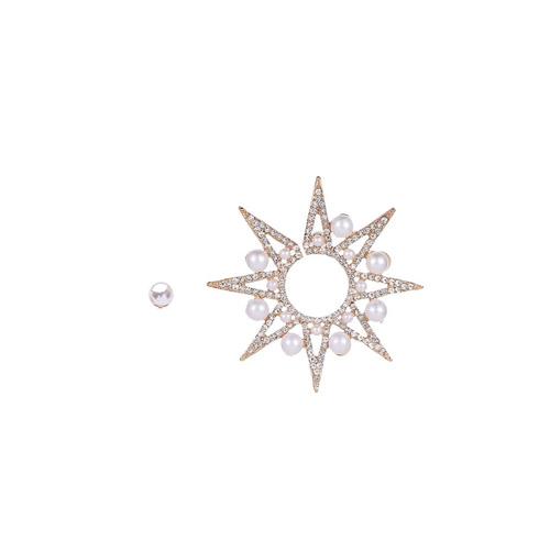 Orecchini stella maxi e perla mias vintage