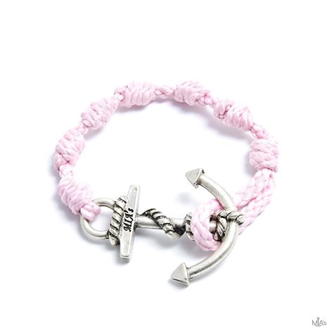 bracciale semplicemente rosa ancora argento