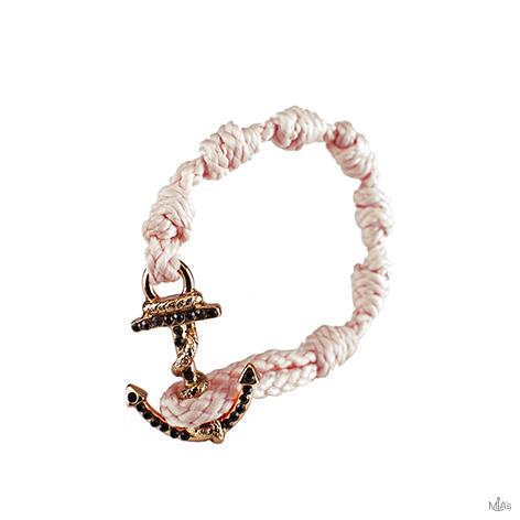 bracciale blackoutk diamonds rosa ancora oro