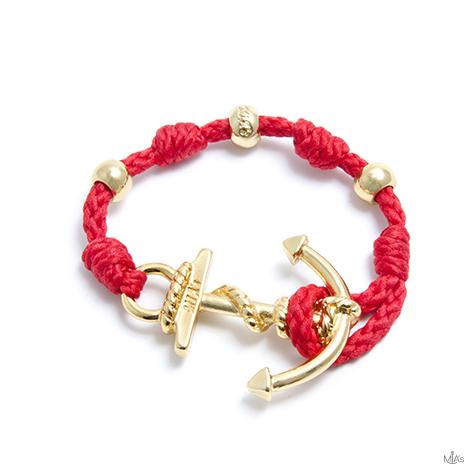 bracciale love boat rosso ancora oro