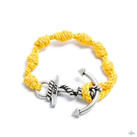 bracciale semplicemente giallo ancora argento