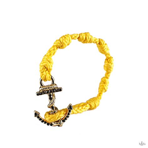 bracciale black diamonds giallo ancora oro