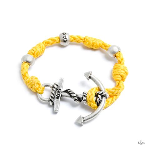 bracciale love boat giallo ancora argento