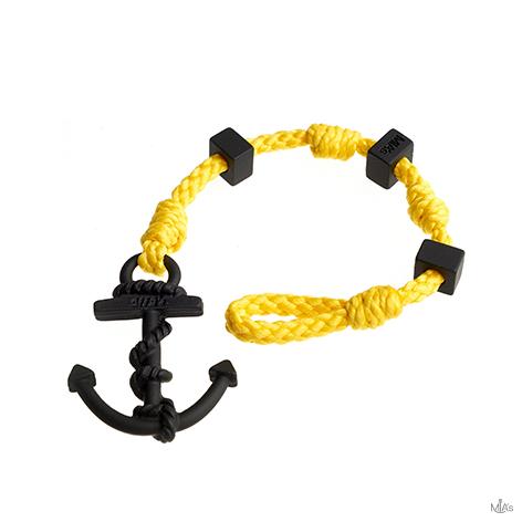 bracciale square giallo ancora nera