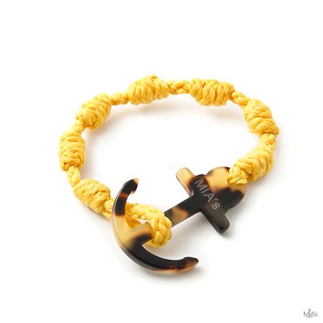 bracciale elegance giallo ancora tortuga