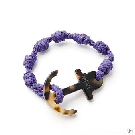 bracciale elegance viola ancora tortuga